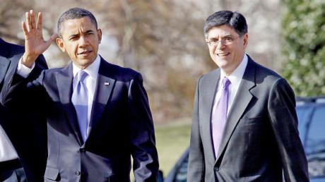 Barack Obama och Jack Lew