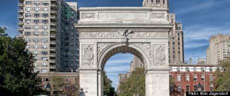 """Aaron Greene uppges ha velat spränga Washington Square Archs norra sida, som hedrar USA:s förste president, och """"döda 100 personer""""."""
