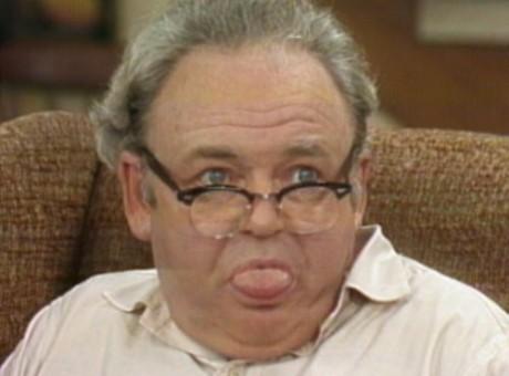 Archie Bunker fick representera den vite arbetaren som häcklade homosexuella och människor av annan rastillhörighet.