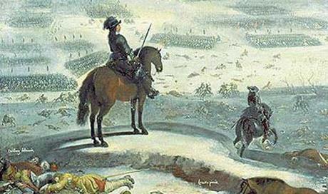 Karl X Gustav ser ut mot isen av Johan Filip Lemke.