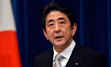 Japans premiärminister Shinzo Abe som vill sänka Japans valuta