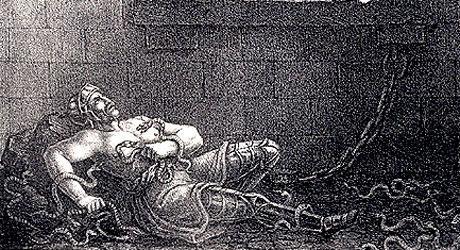 Ragnar Lodbroks död i ormgropen.