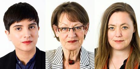 FI:s trojka - Sissela Nordling Blanco, Gudrun Schyman samt Stina Svensson.