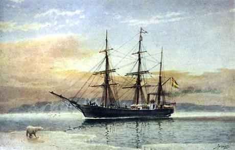 Fartyget Vega. Målning av Jacob Hägg.