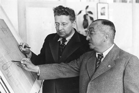 Ernst Heinkel i förgrunden.