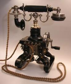 Ericssons telefonlur från 1892.