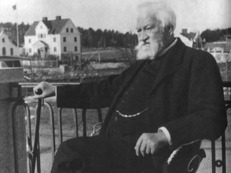 L.M. Ericsson på Alby Gård 1926.