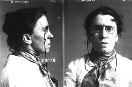 """""""Mugshot"""" på Emma Goldman."""