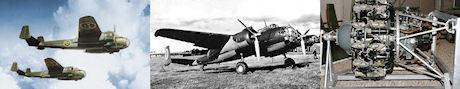SAAB B 18A, SAAB B 18B, Pratt & Whitney 1830 twin wasp.