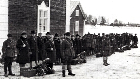 Upprorsmakarna i Mäntsälä 1932.