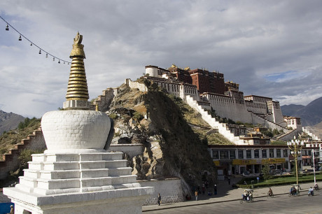 Potala-palatset i Lhasa.