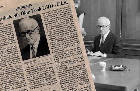 """MKUltra leddes av juden Stanley Gottlieb (1918-1999). Gottlieb ledde inte bara MKUltra utan även CIA:s forskning i biologisk krigföring och ledde utvecklingen av metoder för att lönnmörda människor med olika sorters kemikalier, virus och bakterier. Som exempel kan nämnas att Gottlieb under ett senatsförhör erkände att han en gång personligen transporterat mjältbrandssporer (Anthrax) till Afrika som skulle användas för att mörda Patrice Lumumba. Ett av Gottliebs mer bisarra MKUltra-projekt var att upprätta ett antal bordeller i San Francisco med genomskinliga speglar i varje rum så att """"forskarna"""" kunde se på när intet ont anande sexköpare och prostituerade serverades drycker spetsade med Lsd och andra droger."""