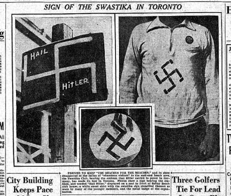 Tidningsartikel om Swastika Club.
