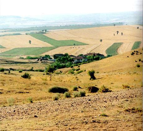 Slagfältet vid Adrianopel som det ser ut i modern tid. Bilden är tagen från platsen för det gotiska vagnslägret.
