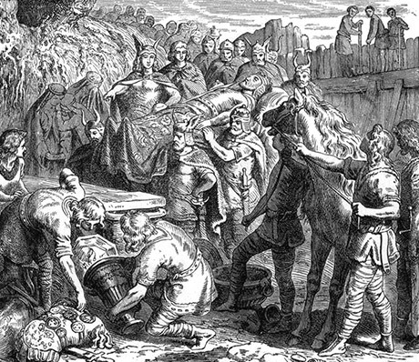 Begravningen av kung Alarik.