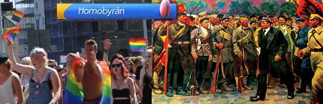 Stockholm pride och hbt-rörelsen kan kopplas till bolsjevism av välkänt snitt.