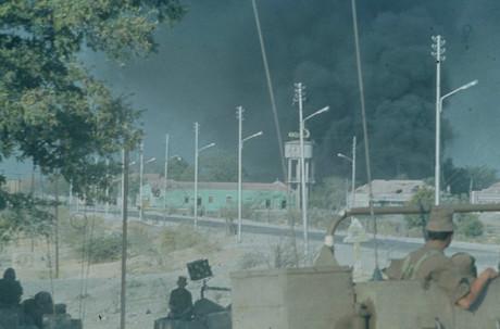 Fotografi taget under operationen.