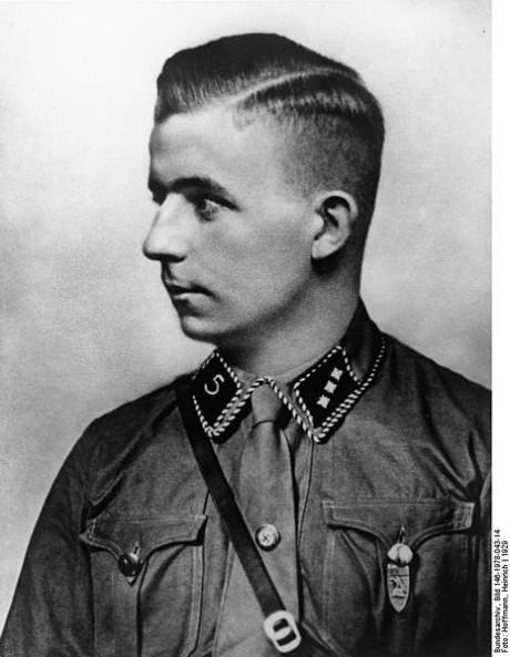 Porträtt av Horst Wessel.