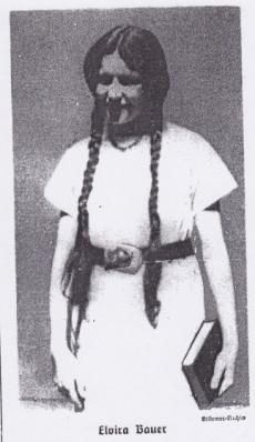 18-åriga Elvira Bauer skrev Trau keinem Fuchs auf grüner Heid und keinem Jud auf seinem Eid, en barnbok i diktform.