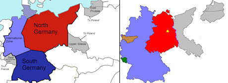 Jämförelse mellan Morgenthaus delning och hur landet delades vid potsdamkonferensen