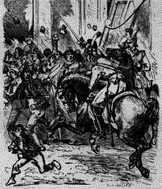 Militären sattes in för att slå ner upproren.