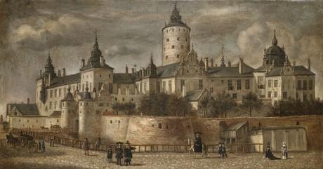 Govert Camphuysens målning slottet Tre Kronor från Slottsbacken (1661)