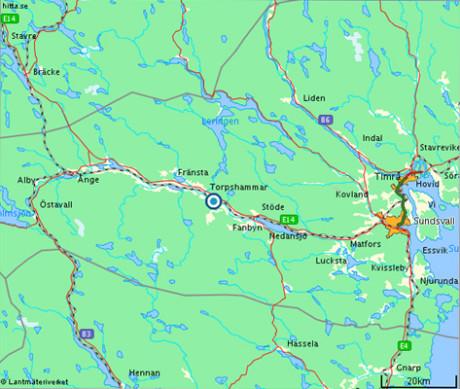 Torpshammar-karta