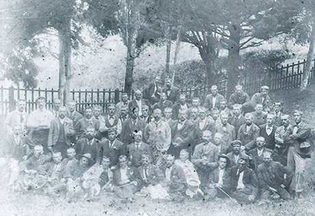 Nordiska krigsfångar på ön Sankta Helena.