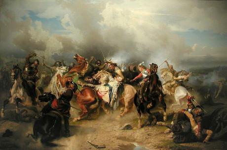 Gustav II Adolfs död i slaget vid Lützen (1855).