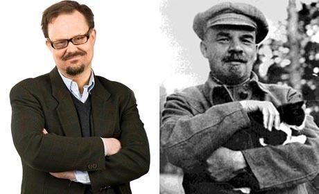 Jens Runnberg och Vladimir Lenin.