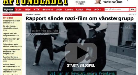 Motståndsrörelsen klipper Revolutionära Frontens filmer enligt Aftonbladet.