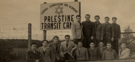 """""""Palestine Transit Camp""""; Tredje riket tillsammans med sionister stödde judisk utvandring från Europa till Palestina. Se film här."""
