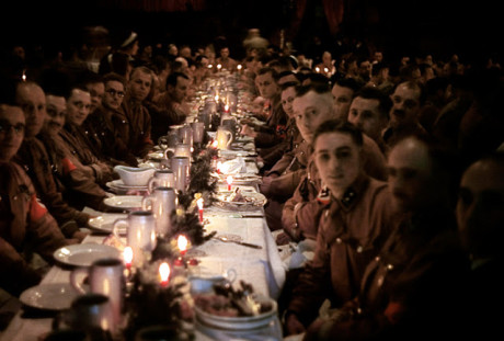 05 Scene from a Christmas party in Munich thrown by Adolf Hitler for his generals, 1941