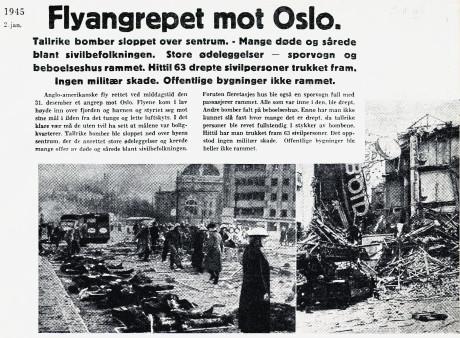 Bombningen av centrala Oslo.