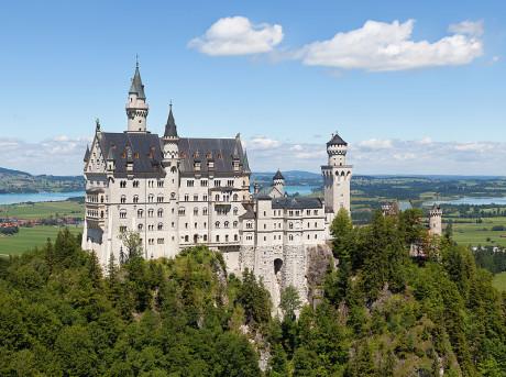Slottet Neuschwanstein i södra Tyskland.