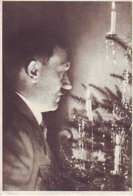 Hitler vid en julgran. Från Tysk krigsjul 1944.