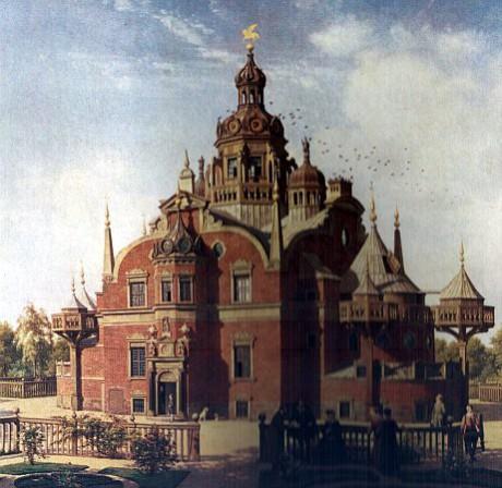 Uraniborgs slott. Målning av Constantin Hansen (1804-1880).