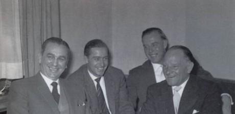 Kurt Meyer, Joachim Peiper Otto Günsche y Sepp Dietrich,