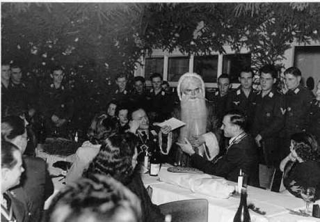 Tomten och tyska officerare 1944,