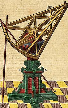 Tycho Brahes sextant som användes för att mäta vinkelavståndet mellan stjärnor.