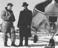 Bengt Olow & Erik Bratt och provflygplanet SAAB 210.