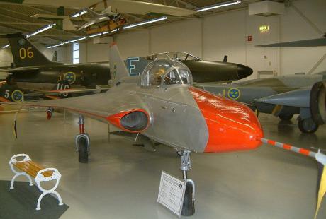 SAAB 210B på Flygvapenmuseum i Linköping.