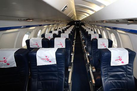 Typisk passagerarkabin SAAB 340.