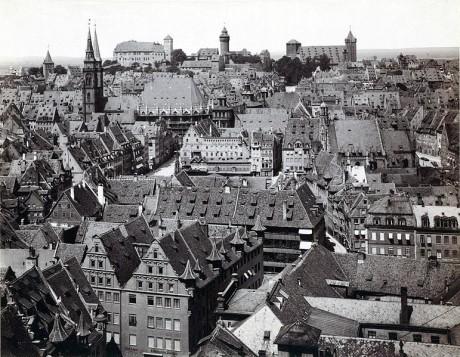 Nürnberg innan bombningarna.