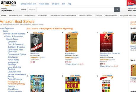 Mein kampf toppar listan på Amazon.