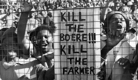 """I den kontroversiella sången sjunger ANC-anhängarna """"Döda Boern – Döda farmarna"""""""