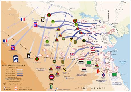 Karta över markoffensiven (klicka för större)