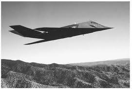 "F-117 Nighthawk; ""smygflygplan"" som användes under offensiven."