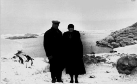 Paret Mikkelsen på Antarktis.