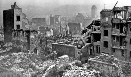 Pforzheim efter bombräden.